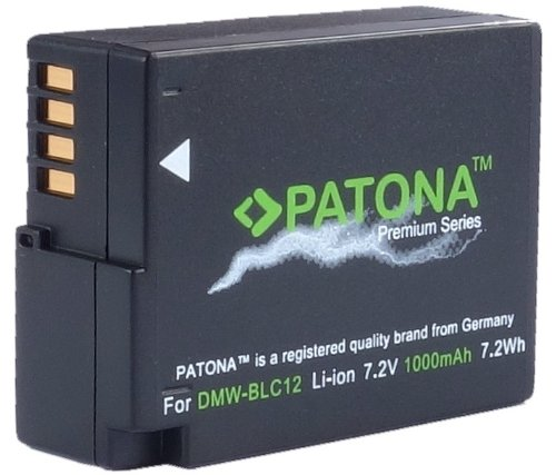 Patona Premium Akku für Panasonic DMW BLC12 E echte 1000mAh intelligenter Akku für Panasonic Lumix DMC GX8 G70 G81 G7 G6 G5 FZ2000 FZ1000 FZ200 FZ300