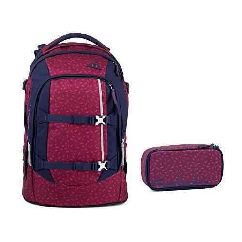 Satch Pack Blazing Purple Schulrucksack Set 2tlg.