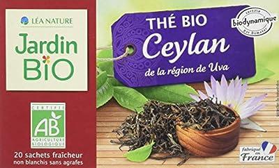 Jardin Bio Thé Noir Ceylan Bio 20 Sachets 30 g - Lot de 6