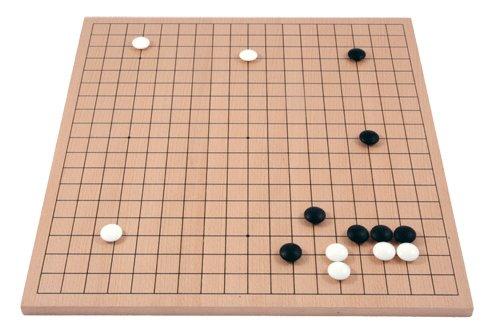 Go-Spiel: 19x19 Buchenfurnierbrett