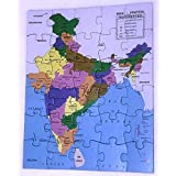 KREATIEVE-HAUS ENTERPRISE Paper Puzzle of Indian Map with Details of All The States (Multicolour)