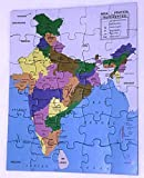 PUZZLE OF INDIAN MAP WITH DETAILS OF ALL THE STATES