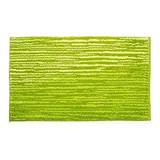 SCHÖNER WOHNEN-Kollektion, Mauritius, Badteppich, Badematte, Badvorleger, Design Streifen - grün, Oeko-Tex 100 zertifiziert, 70 x 120 cm