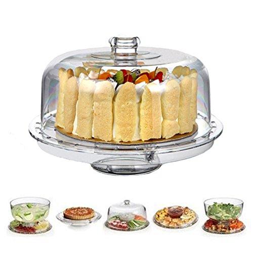 6 en 1 Présentoir à Gateaux Multifonctionnel Assiettes à Gâteaux- pâtisserie/apéritifs/saladier