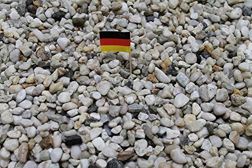 Doubleyou Geovlies & Baustoffe 1kg bis 30 kg Aquariumkies - Made in Germany - Quarzsand -Taunusquarz grau-Weiss,8-16 mm