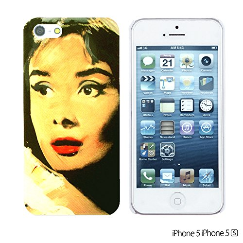 OBiDi - Celebrity Star Hard Back Case / Housse pour Apple iPhone SE / Apple iPhone 5S / 5 - Beautiful Queen Elizabeth II Audrey Hepburn Oil Painting