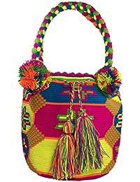 Wayuu - Bolsa para mochila (100% étnica, tejida a mano, tamaño grande