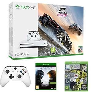 Xbox One S 500GB + Forza Horizon 3 + Controller + Halo 5 + FIFA 17