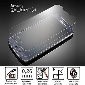 TM-Concept® Film /Vitre de protection écran – Samsung Galaxy s4 - Verre Trempé HQ Crystal Ultra résistant (incassable, inrayable 9H) et Ultra Slim (0,26mm) avec bords arrondis pour une protection et un confort d'utilisation max !
