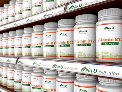 Vitamin B12 Methylcobalamin 1000 mcg – 6-Monats-Versorgung – 180 Tabletten – Nahrungsergänzungsmittel von Nu U Nutrition - 8