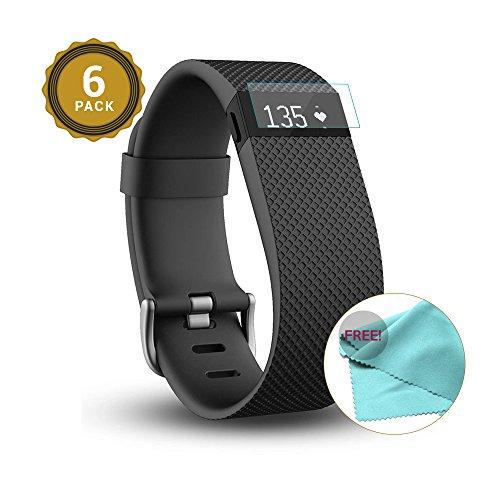 exinoz® 6x fitbit charge hr protezione quadrante i protezione di alta qualità con 1 anno di garanzia di sostituzione i ottieni il meglio dal tuo smart watch fitbit charge hr 6 pack