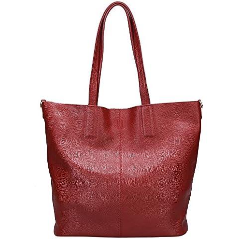 Damero Pelle delle donne Tote Bag / borsa con tracolla e fodera rimovibile