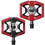 Crankbrothers Doubleshot3 Pédale de VTT Mixte Adulte, Rouge/Noir