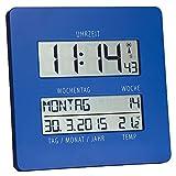 TFA Dostmann 60.4509 TimeLine orologio da parete radiocomandato con indicatore di temperatura (blau)