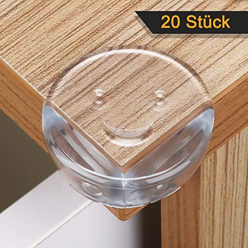 LOETAD 20er Eckenschutz Kantenschutz gegen Tisch- und Möbel-Ecken mit 3M Klebstoff Transparent für...
