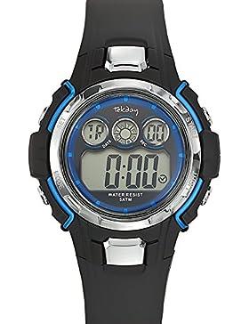 Tekday Unisex-Armbanduhr 653836 Digital Quarz Schwarz 653836