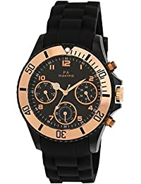 Maxima Hybrid Multifunction Black Dial Men -31331PPGN