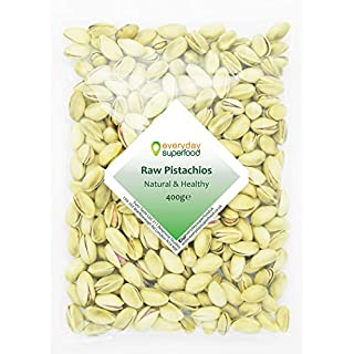 Raw pistachios nuts 400g unsalted unroasted and raw pistachios in shell Ideal for mixed nuts with pistachio snacks