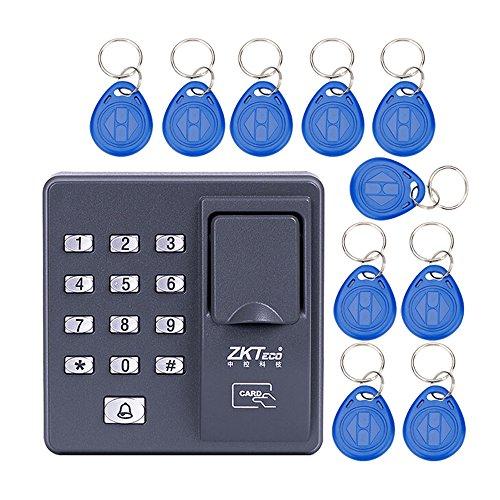 OBO Hände Digital elektrische RFID Reader Finger Scanner Code System biometrischen Anerkennung Fingerabdruck Access Control System X6 + 10 Schlüsselanhänger