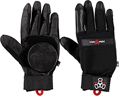 Triple Eight Longboard Downhill Slide Glove [X-Small] Black
