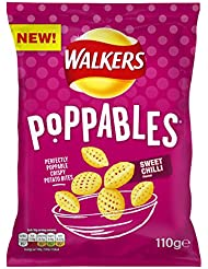 Walkers Poppables Sweet Chilli Snacks, 110 g