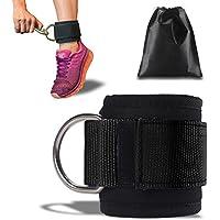 Preisvergleich für ASMOTIM Premium Fußschlaufen - Gepolstert - Perfekt für Beintraining am Kabelzug - Gratis Tragebeutel - Flexibel Einstellbar für jedes Workout und Dein Po Training - One Stück-2 Jahre Gewährleistung