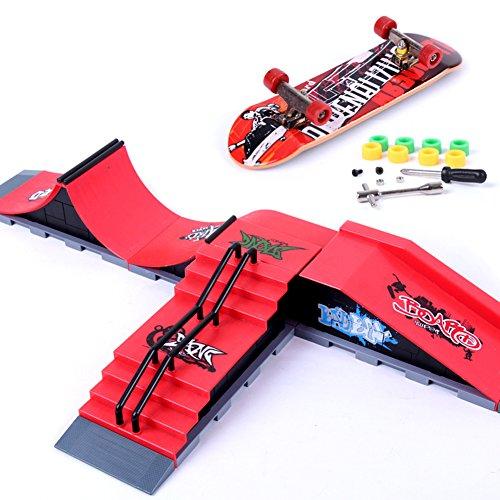 6-teiliges Set mit Rampenteilen für Skate-Park, von Dairyshop, Teile A-F für Tech-Deck-Fingerboard, Ultimate Parks A-F 6pcs