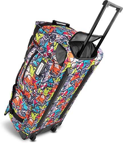 Leichte und Robuste Sport und Reisetasche Rollen Farbe Shady Shapes / 100 Liter