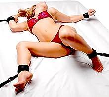 Pares que ligan las esposas servidumbre ligada correas cama
