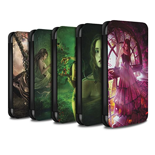 Officiel Elena Dudina Coque/Etui/Housse Cuir PU Case/Cover pour Apple iPhone 6 / Par le Vent Design / Un avec la Nature Collection Pack 15pcs