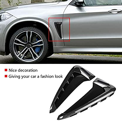 Suuonee-Side-Fender-Cover-2-Stck-Auto-ABS-Side-Air-Flow-Fender-Cover-Trim-fr-X5-F15-2014-2018