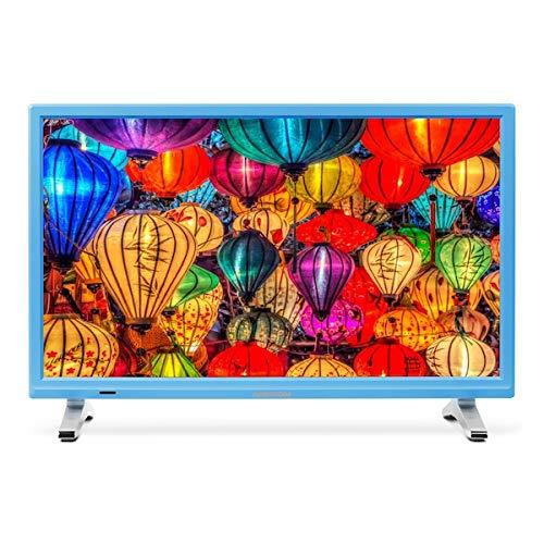 MEDION Life P13500 MD 21500 54,6 cm (21,5 Zoll Full HD) Fernseher (LCD-TV mit LED-Backlight, Triple Tuner, DVB-T2 HD, HDMI, CI+, integrierter Medienplayer) blau -