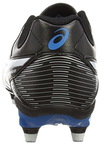 Asics Lethal Speed St, Chaussures de Rugby homme Noir (black/white/methyl Blue 9001)