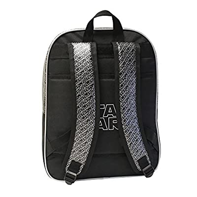 Star Wars Mochila Adaptable a Carro Doble Compartimento, Color Negro, 27.72 Litros por Star Wars