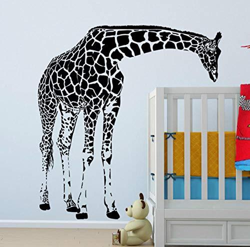 Große Größe Giraffe Kunst Wandbild Tier Wandaufkleber Für Baby Kinderzimmer Schlafzimmer Dekoration Vinyl Wand 116x123 cm