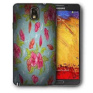 Snoogg Red Flower Pattern Printed Protective Phone Back Case Cover For Samsung Galaxy NOTE 3 / Note III