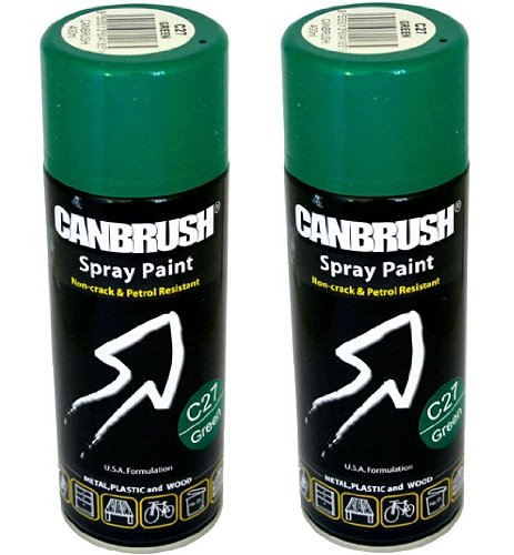2-x-canbrush-spray-paint-for-metal-plastic-wood-400ml-gloss-finish-green