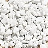 MGS SHOP Carrara Zierkies Garten weiß grau gerundet Körnungen