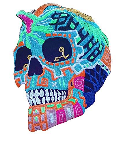 Parche Calavera Colores Cráneo Biker - 23.5 cm X
