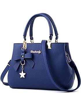 ZUNIYAMAMA Mode Frauen (Damen) Synthese Leder Schulter Handtasche (Tote) Tasche