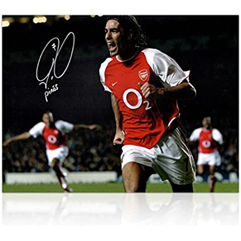 Robert Pires Firmado Arsenal Foto: Celebración de la meta