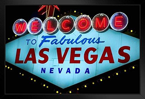 Poster Gießerei Welcome to Fabulous Las Vegas Kultiges Sign Foto Kunstdruck von proframes 20x14 inches Framed Poster (Las Vegas Sign Poster)