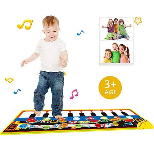 KOBWA Kinder Musical Teppich Klavier Matte, Baby Musikteppich Musikmatte Music Keyboard Teppich Spielteppich Musikinstrument Spielzeug Kinder Baby Spielzeug Geschenk