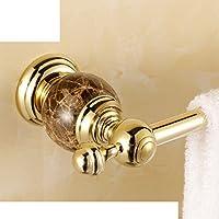 Accessori/Barra di tovagliolo singolo cristallo di giada/ marmo porta asciugamani in ottone/ Golden singola barra portasciugamani-C