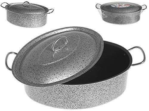 Home Salt N\'Pepper Casseruola Ovale in Alluminio, Rivestimento Antiaderente, 32 cm