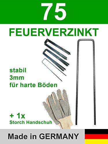 S&D Gartenset 75-450 Erdanker Stahl feuerverzinkt 150x30x3,0 und ein Paar Handschuhe genobbt (75)