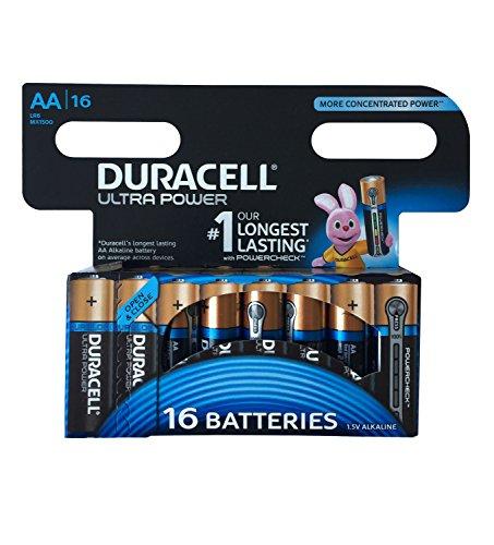 Duracell Ultra Power Typ AA Alkaline Batterien, 16er Pack