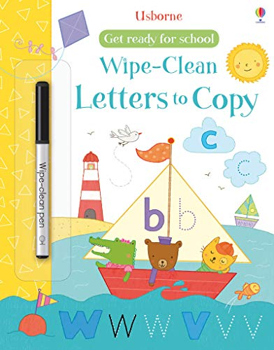 Get Ready for School Wipe-Clean Letters to Copy (Wipe-clean Books)