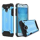 JD Compatible para Galaxy J3 2018 Funda, [Armadura Delgada] [Doble Capa] [Protección Pesada] Híbrida Resistente Funda Protectora y Robusta para Samsung Galaxy J3 (Release in 2018) - Azul