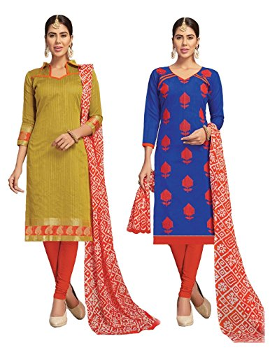 Banarasi Suit & Chanderi Suit | Double Top Salwar Kameez Salwar Suit...